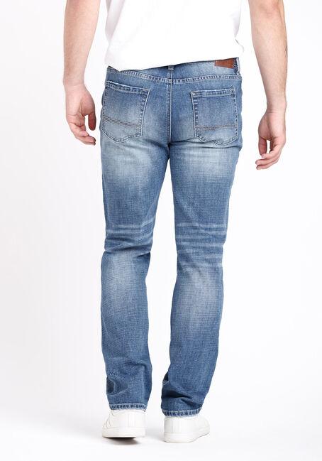 Men's Rip and Repair Slim Straight Jeans, MEDIUM WASH, hi-res
