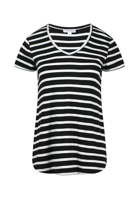 Womens' V-Neck Stripe Tee