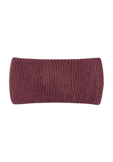 Women's Twisted Headband, BURGUNDY, hi-res