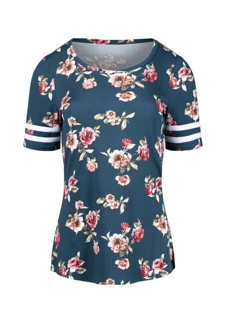 Women's Floral Football Tee