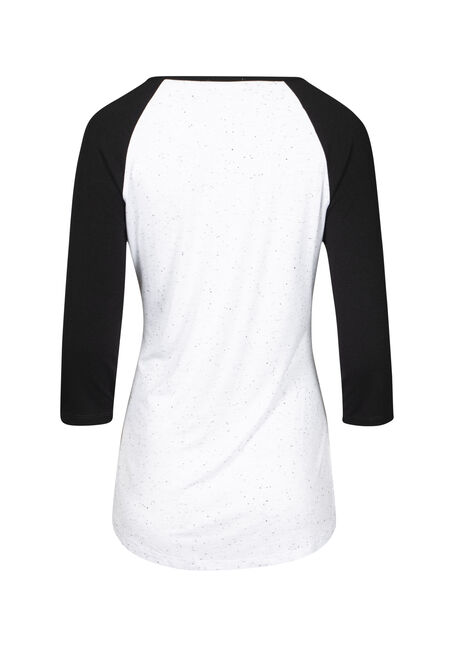 Women's Woodland Heart Baseball Tee, WHITE, hi-res