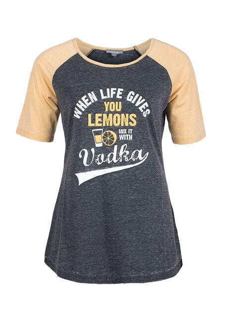 Ladies' Vodka Lemonade Baseball Tee