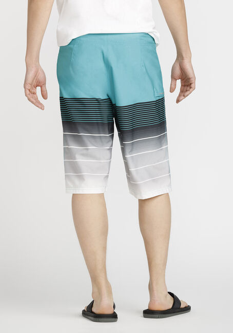 Men's Ombre Board Short, TURQUOISE, hi-res