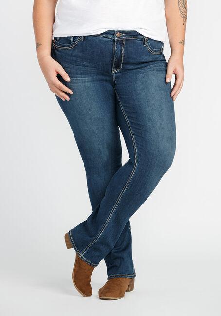 Ladies' Plus Size Baby Boot Jeans