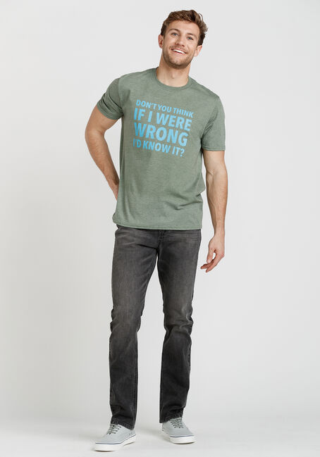 Men's If I Were Wrong I'd Know It Tee, HEATHER OLIVE, hi-res