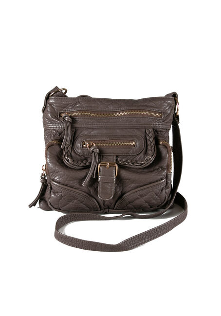 Women's Braided Trim Cross Body Bag