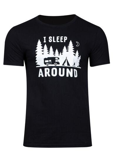 Men's Camping Tee, BLACK, hi-res