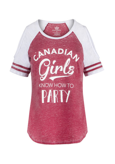 Ladies' Canadian Girls Cold Shoulder Tee