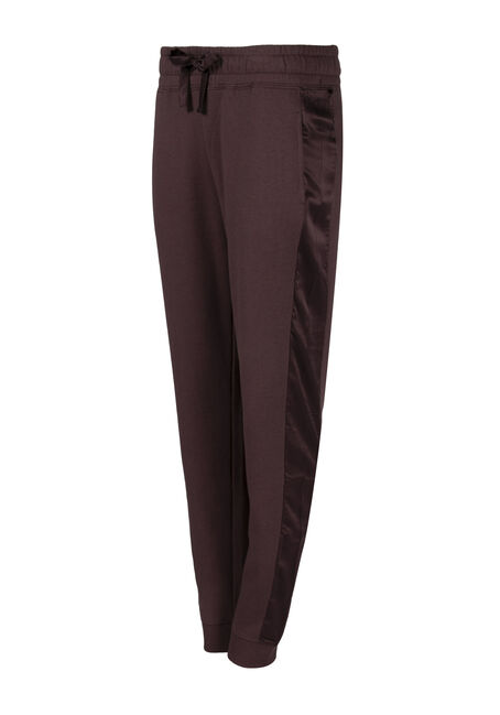 Ladies' Satin Trim Jogger, VIOLET, hi-res