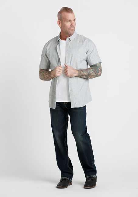Men's Oxford Shirt, CHARCOAL, hi-res