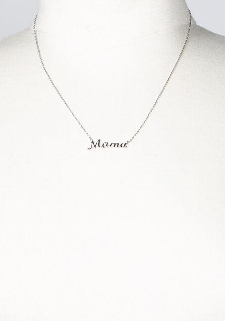 Women's Mama Necklace, SILVER, hi-res