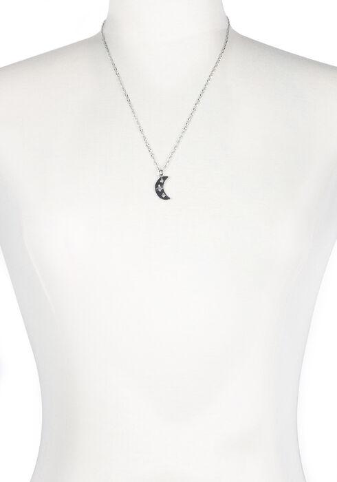 Ladies' Charm Necklace, RHODIUM, hi-res