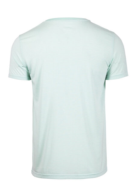 Men's Everyday V-Neck Mini Stripe Tee, BRIGHT GREEN, hi-res