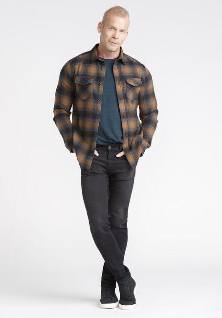Men's Plaid Flannel Fabric, TOBACCO, hi-res