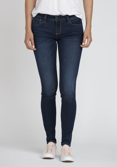 Women's Ink Wash Skinny Jeans, DARK WASH, hi-res
