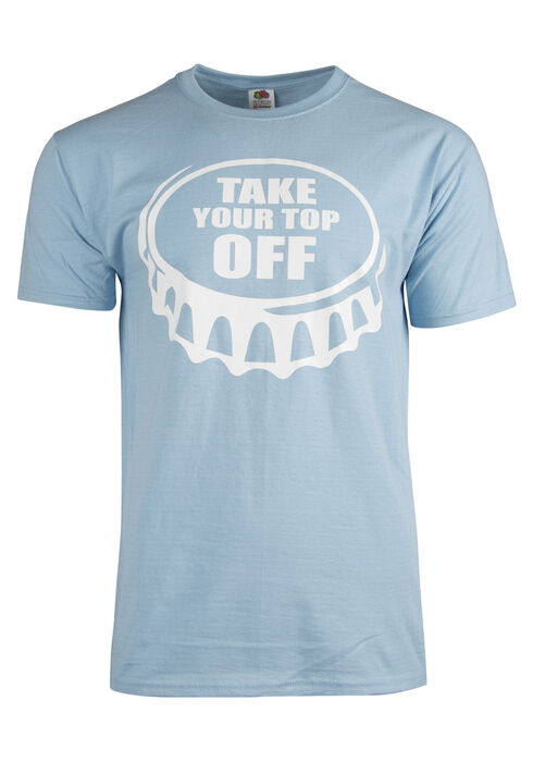 Men's Take Your Top Off Tee, LIGHT BLUE, hi-res