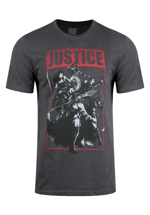 Men's Justice League Tee, CHARCOAL, hi-res