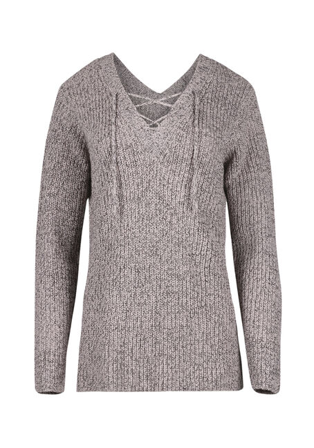 Women's  Lace Up Sweater