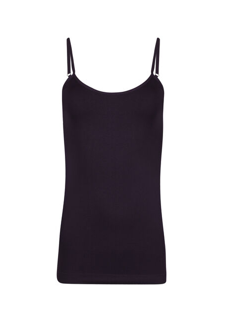 Women's Seamless Strappy Tank, PLUM, hi-res