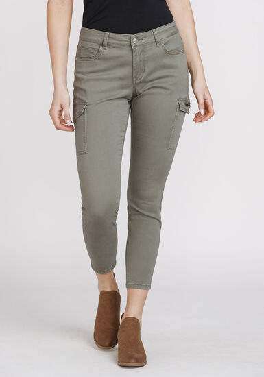 Women's Cargo Skinny Pant, LIGHT OLIVE, hi-res