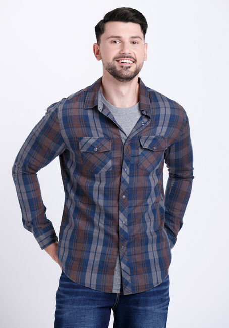 Men's Dirty Wash Plaid Shirt