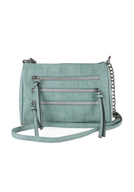 Ladies' Triple Zipper Cross Body Bag