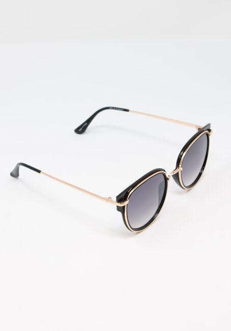 Women's Wayfarer Sunglasses, BLACK, hi-res