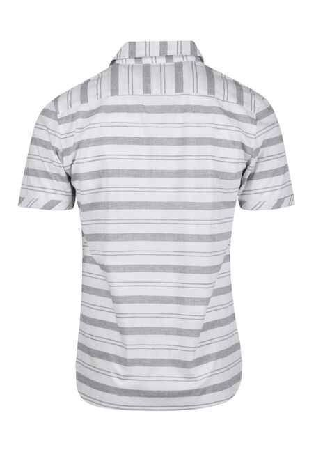 Men's Stripe Shirt, WHITE, hi-res