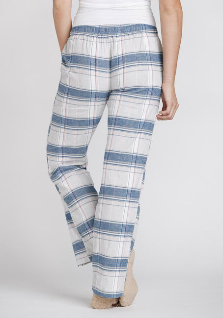 Women's Plaid Flannel Lounge Pant, PALE PINK, hi-res