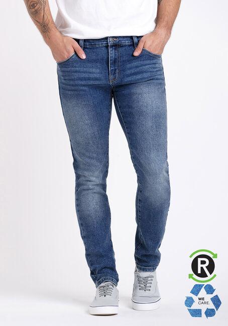 Men's Marbled Wash Skinny Jeans