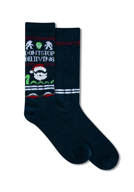 Men's Festive Don't Stop Believing Socks