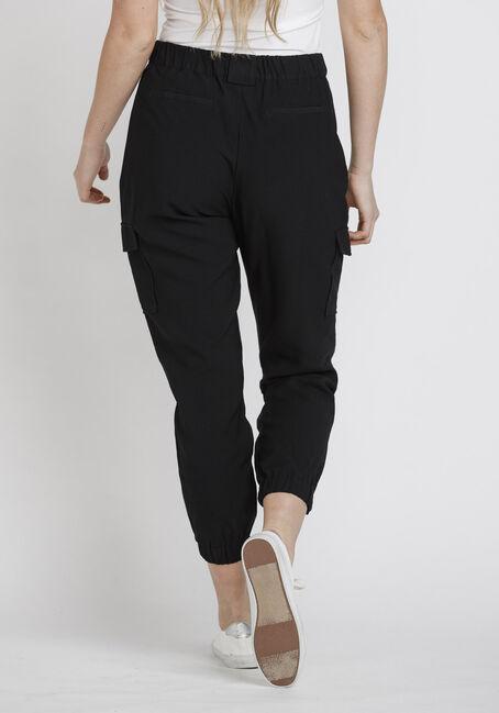 Women's Cargo Jogger Pant, BLACK, hi-res