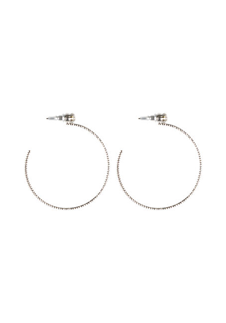 Ladies' Rhinestone Hoop Earring
