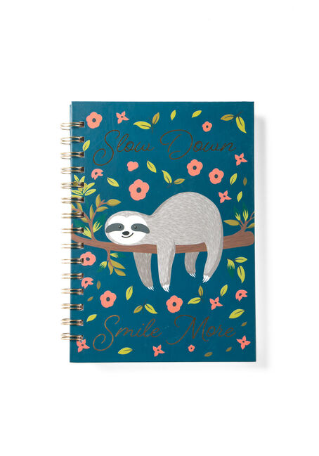 Slow Down Sloth Notebook