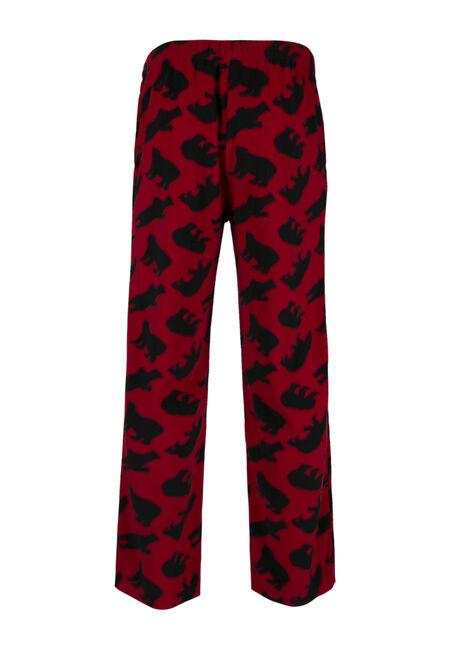 Men's Polar Bear Lounge Pant, RED, hi-res