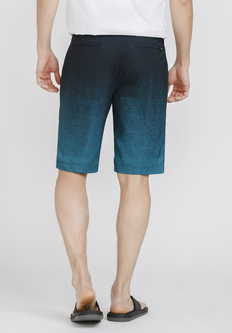 Men's Teal Ombre Hybrid Short, TEAL, hi-res
