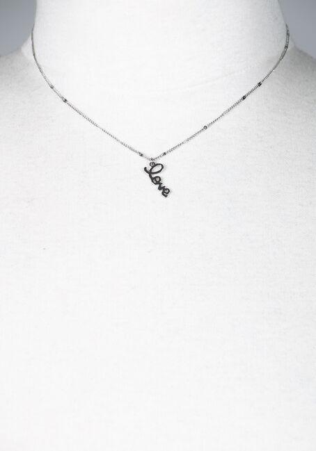 Love Pendant Necklace, SILVER, hi-res