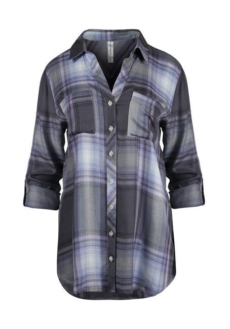 Women's Plaid Boyfriend Shirt