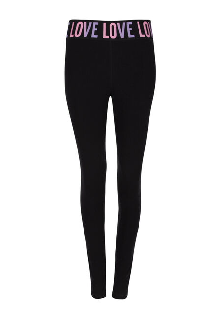 Ladies' Love Elastic Waistband Legging