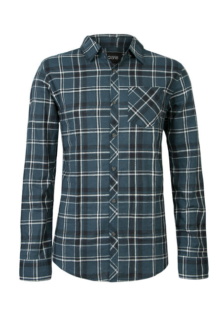 Men's Plaid Linen Shirt