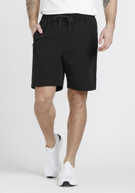 Men's Solid Nylon Short