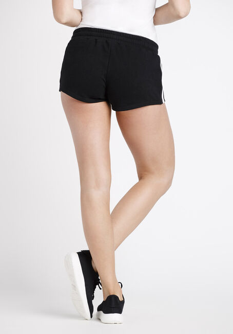 Women's Side Stripe Short, BLACK, hi-res