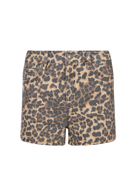 Women's High Rise Leopard Print Short