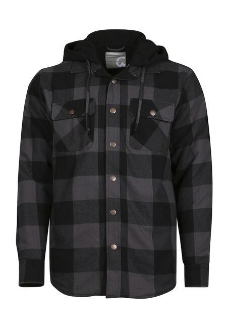 Men's Flannel Plaid Shirt Jacket
