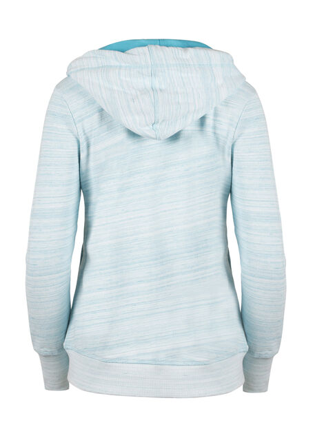Ladies' Space Dye Hoodie, AQUA, hi-res
