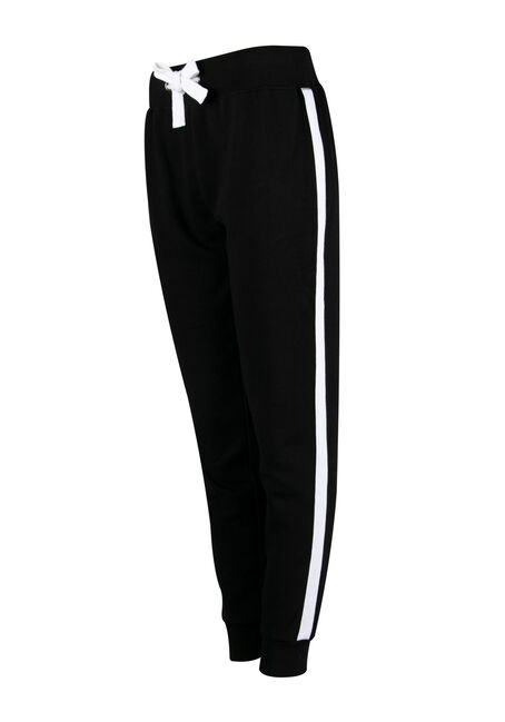 Ladies' Stripe Jogger, BLACK, hi-res