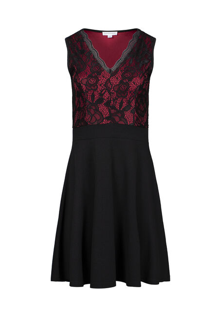 Women's Lace Fit & Flare Dress