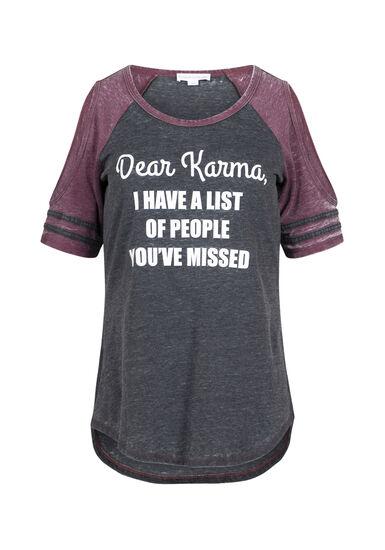 Women's Karma Cold Shoulder Tee, BLACK, hi-res
