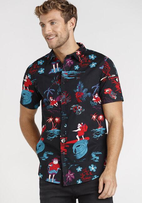 Men's Surfing Santa Shirt