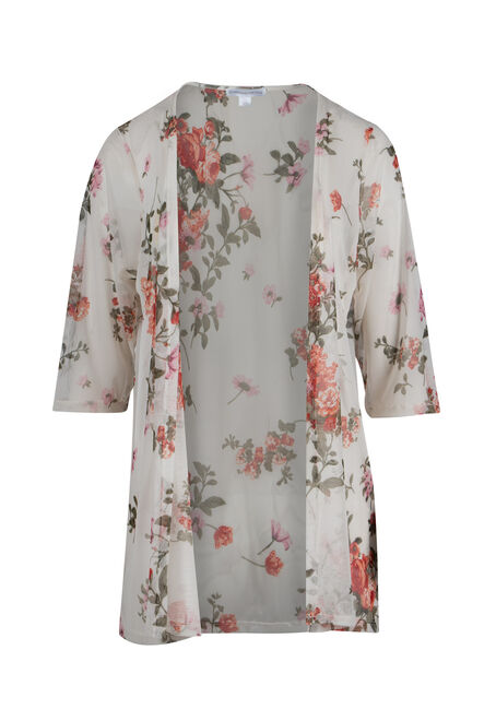 Ladies' Floral Mesh Kimono